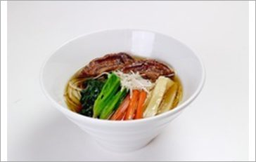 Vegetarian Noodles with Soy Sauce Soup